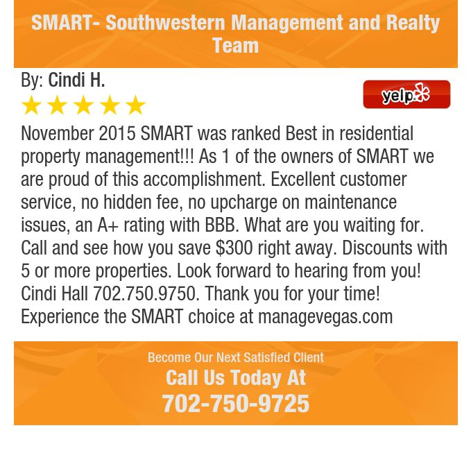 November 2015 SMART was ranked Best in residential property management!!! As 1 of the...