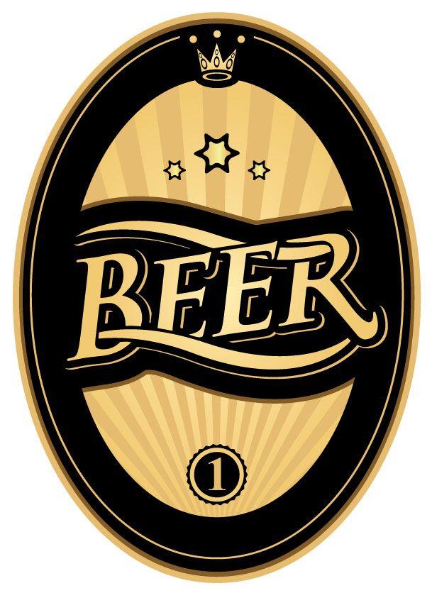 Black-and-Gold-Beer-Label-Ready-for-Webjpg (609×836) BEER LABEL - beer label