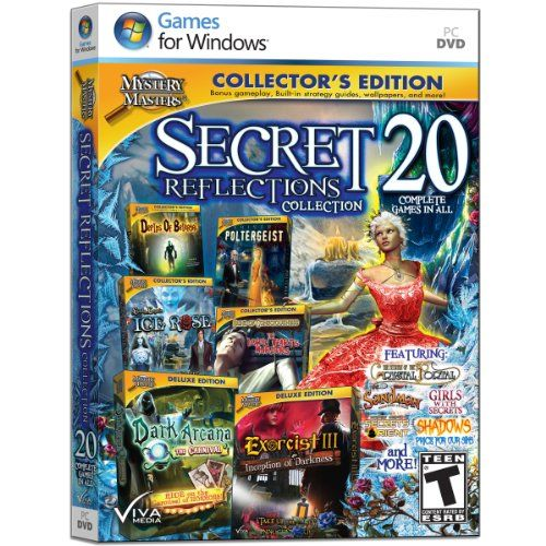 Amazon Com Mystery Masters Secret Reflections Collection Software Hidden Object Games Mystery New Video Games