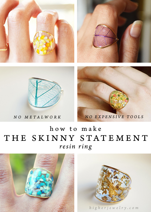Photo of How to Make the Skinny Statement Resin Ring — Higher Jewelry
