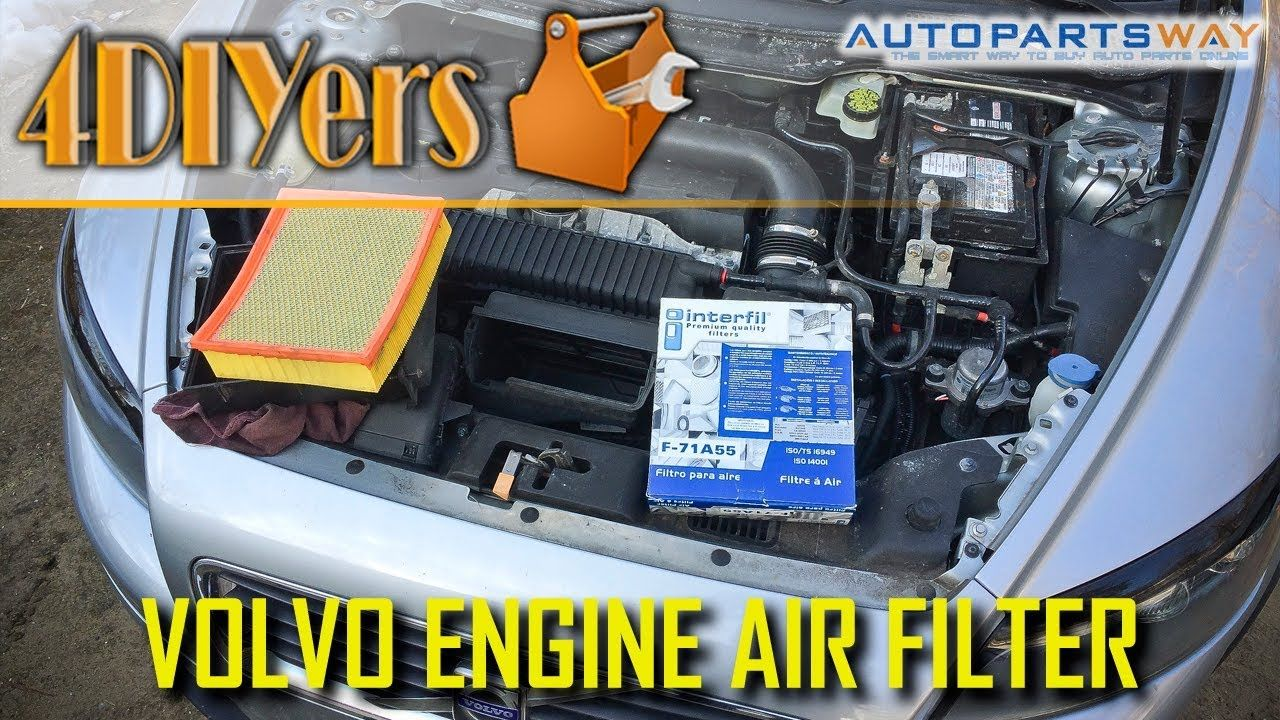 DIY Volvo S40 C30 V50 C70 Engine Air Filter Replacement