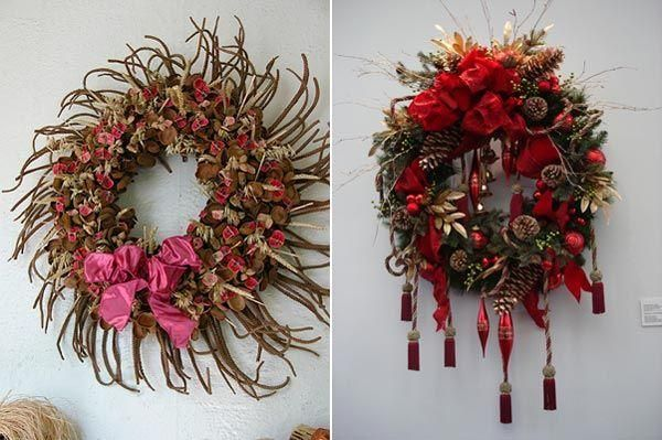 Unique Christmas Wreath Ideas letters by Millie 20 Days of - christmas wreath decorations