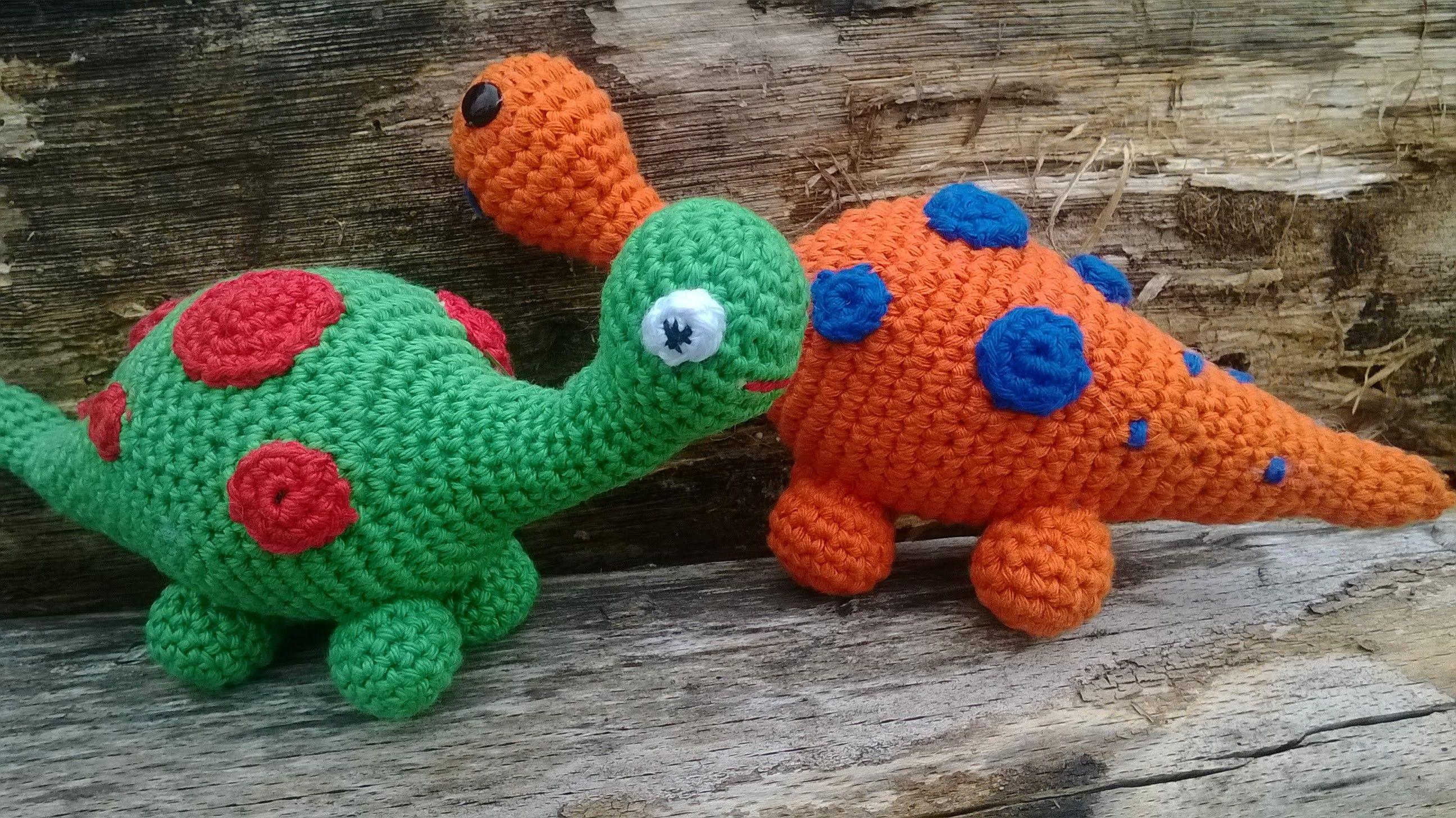 Amigurumi Dinosaurier Mit Rassel Häkelanleitung Anfänger