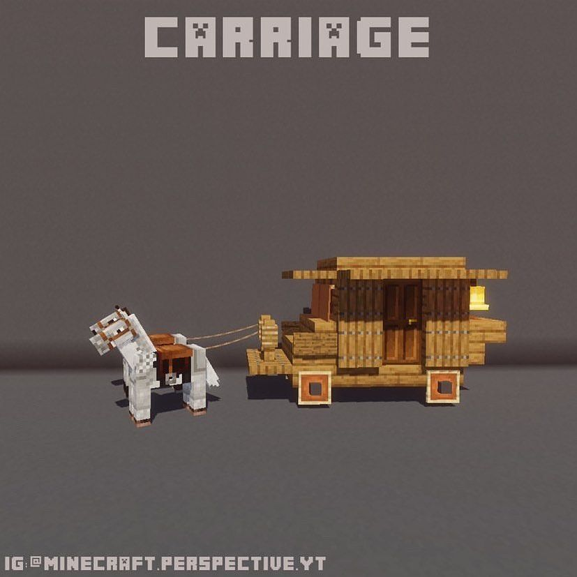 "@minecraftgif on Instagram: ""Beautiful carriage from @minecraft.perspective.yt ❤️check them out!"" #minecrafthouses"