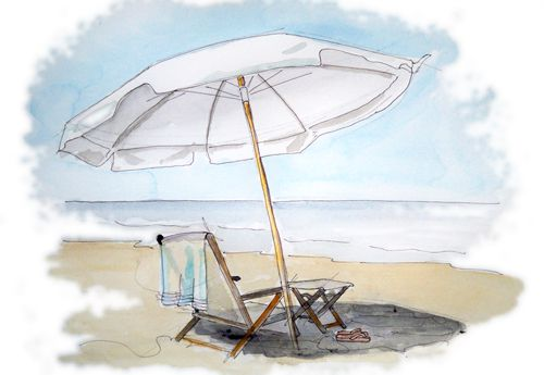 Down By The Shore Tracy Hetzel Beach Watercolor