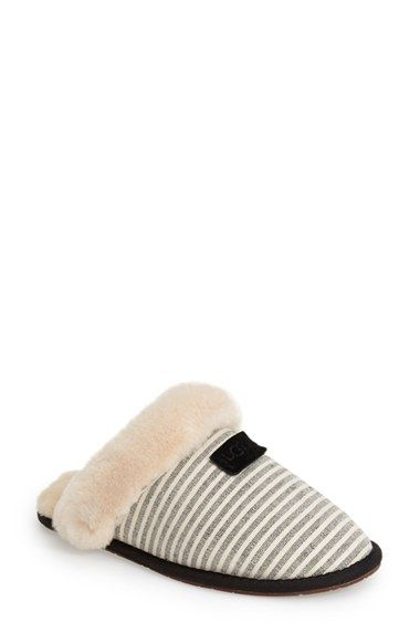 UGG® Australia 'Scuffette II Stripe' Slipper (Women) available at #Nordstrom