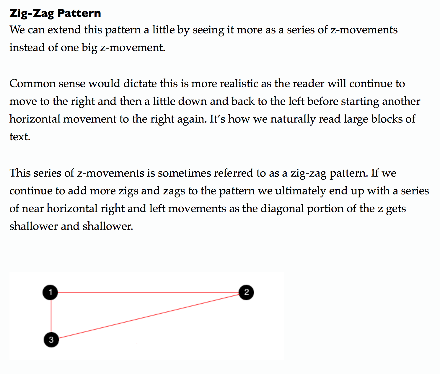 3 Design Layouts Gutenberg Diagram Z Pattern And F Pattern Vanseo Design Zig Zag Pattern Layout Design Pattern