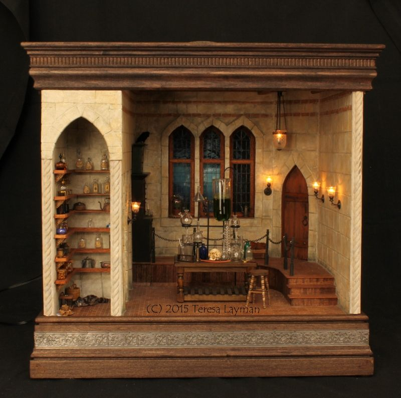 Dollhouse Miniatures Chicago: Mad Science Lab By Teresa Layman, Necessary Wonderfulness