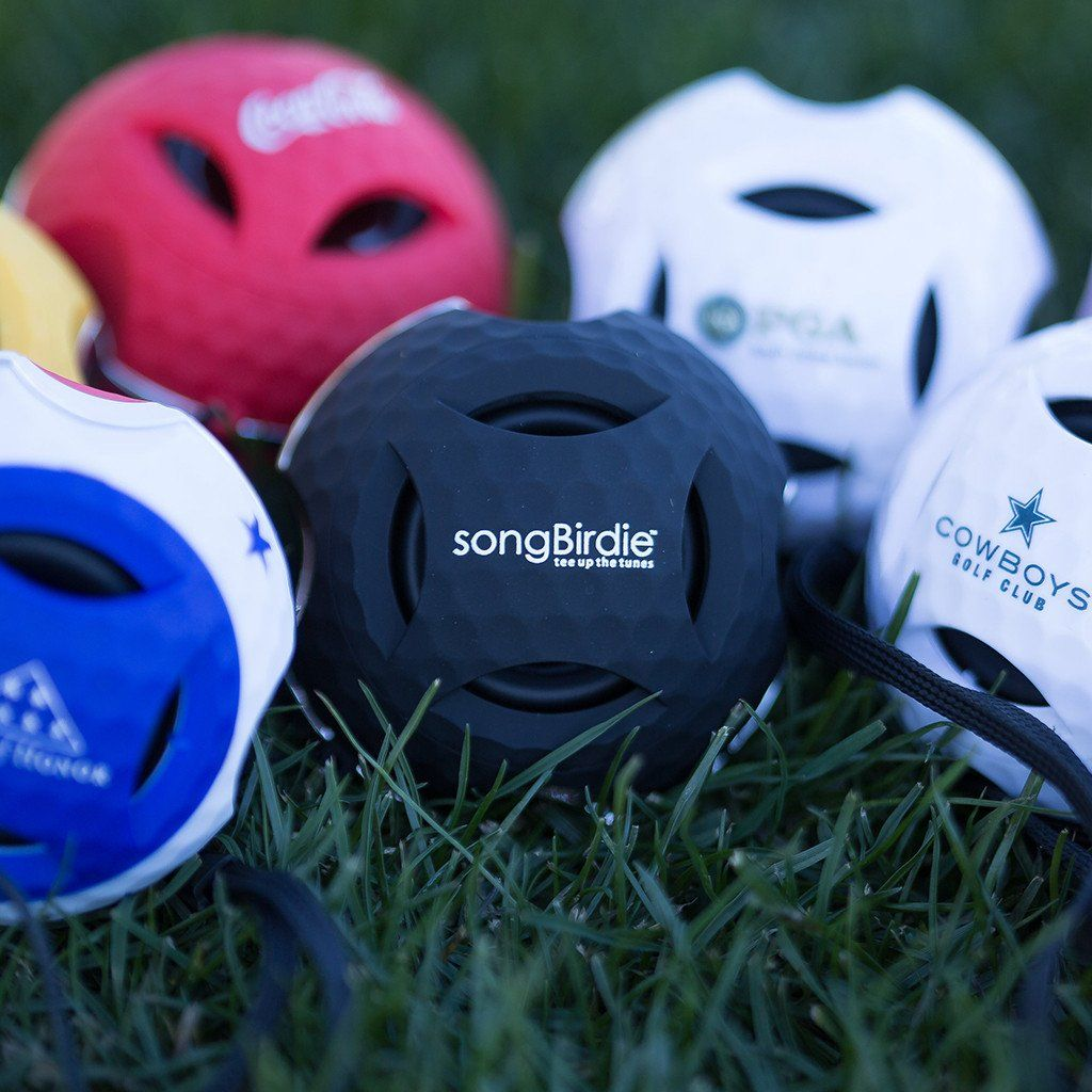 07e4e4d4fd4 SongBirdie is the perfect gift for the sports lover in your life. Shaped  like a golfball!