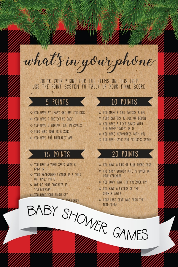 Whats In Your Phone Baby Shower Game . Whats On Your Phone Game Baby Shower