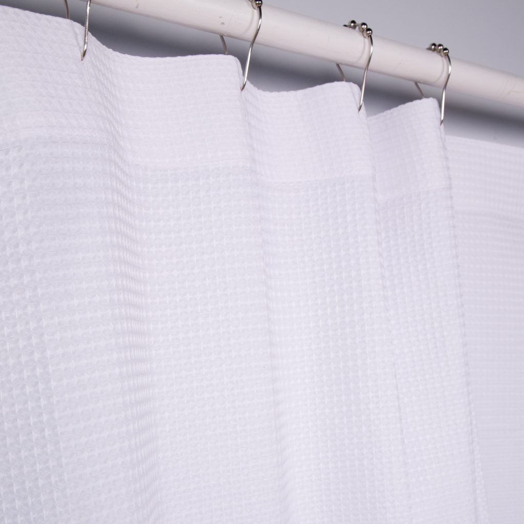 Waffle weave shower curtain white shower curtain pinterest