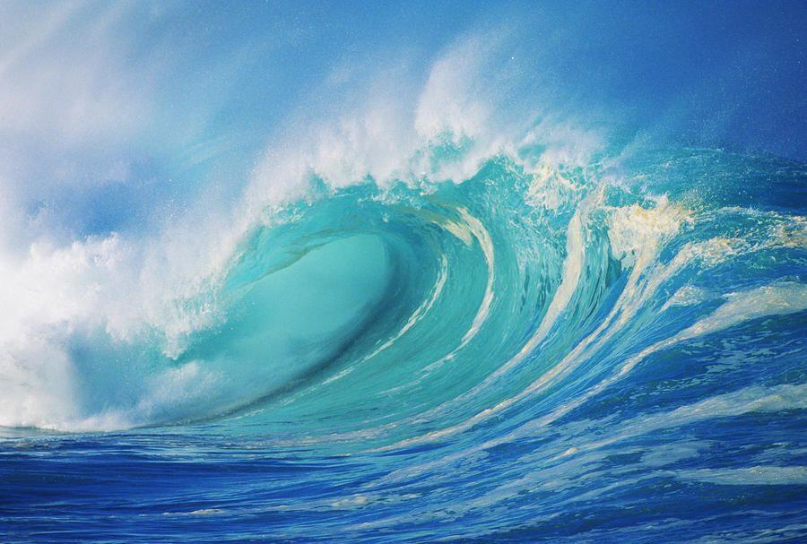 Large Wave Curling Photograph - Large Wave Curling Fine Art Print ...