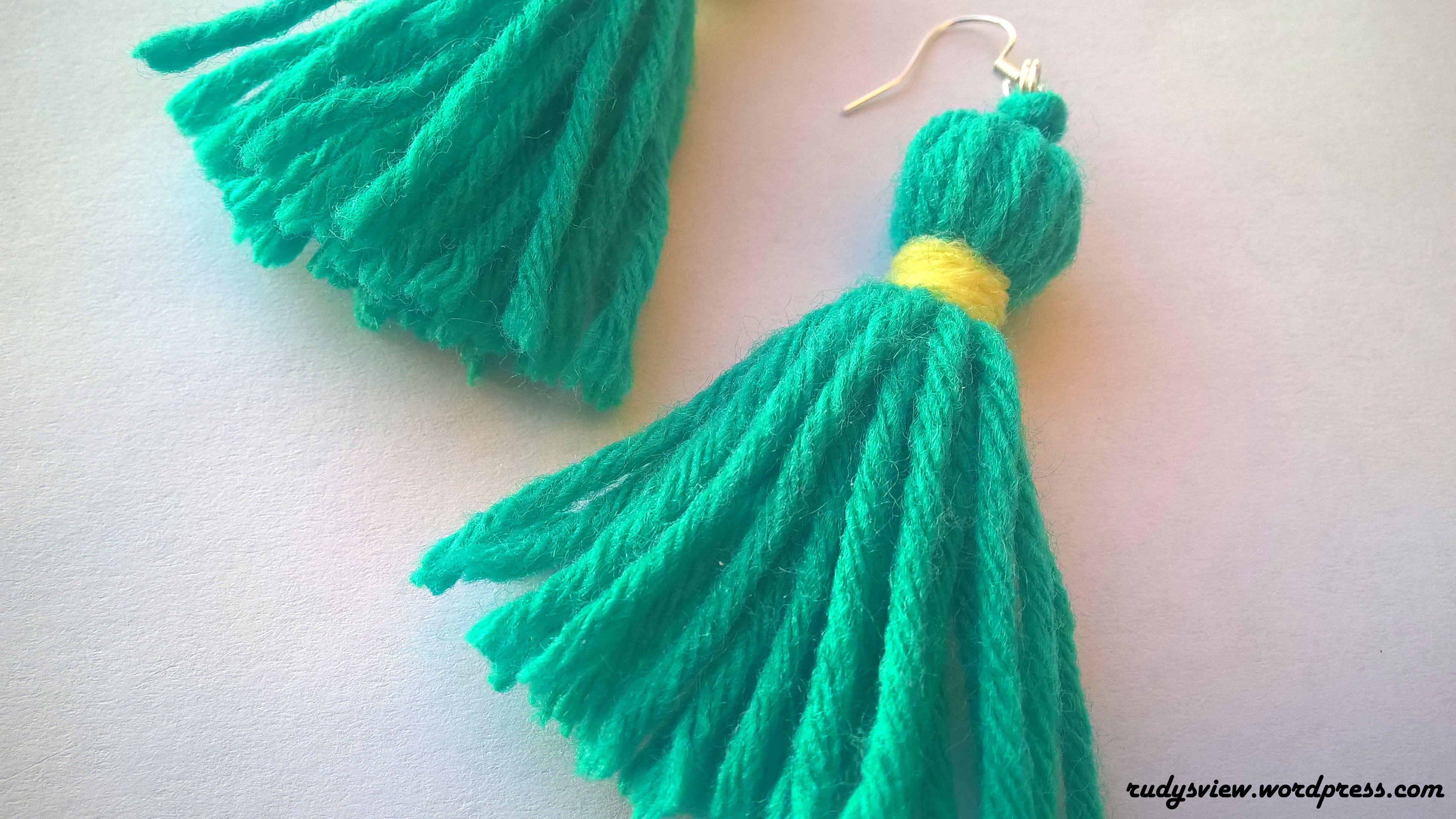fun diy: how to make tassel earrings | tassel earrings, tassels