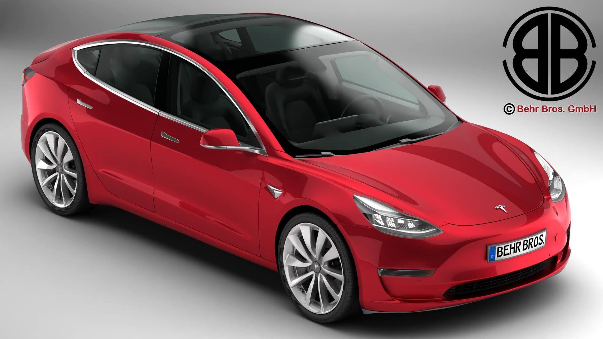 Tesla Model 3 2018 3d Model Flatpyramid Tesla Model Tesla Buy Used Cars