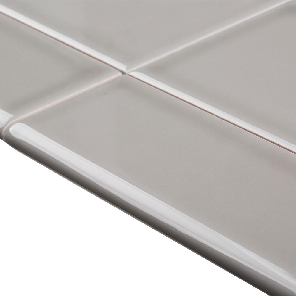 Jeffrey Court Weather Grey 2 In X 6 In Single Bullnose Ceramic Wall Tile Trim 96311 The Home Depot Ceramic Wall Tiles Tile Trim Wall Tiles
