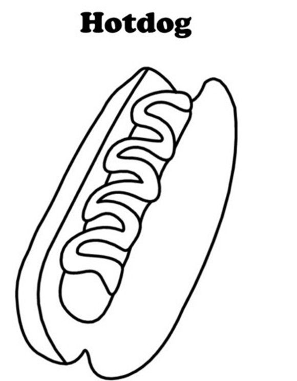 hotdog coloring pages of food Colour Palettes I Love Pinterest