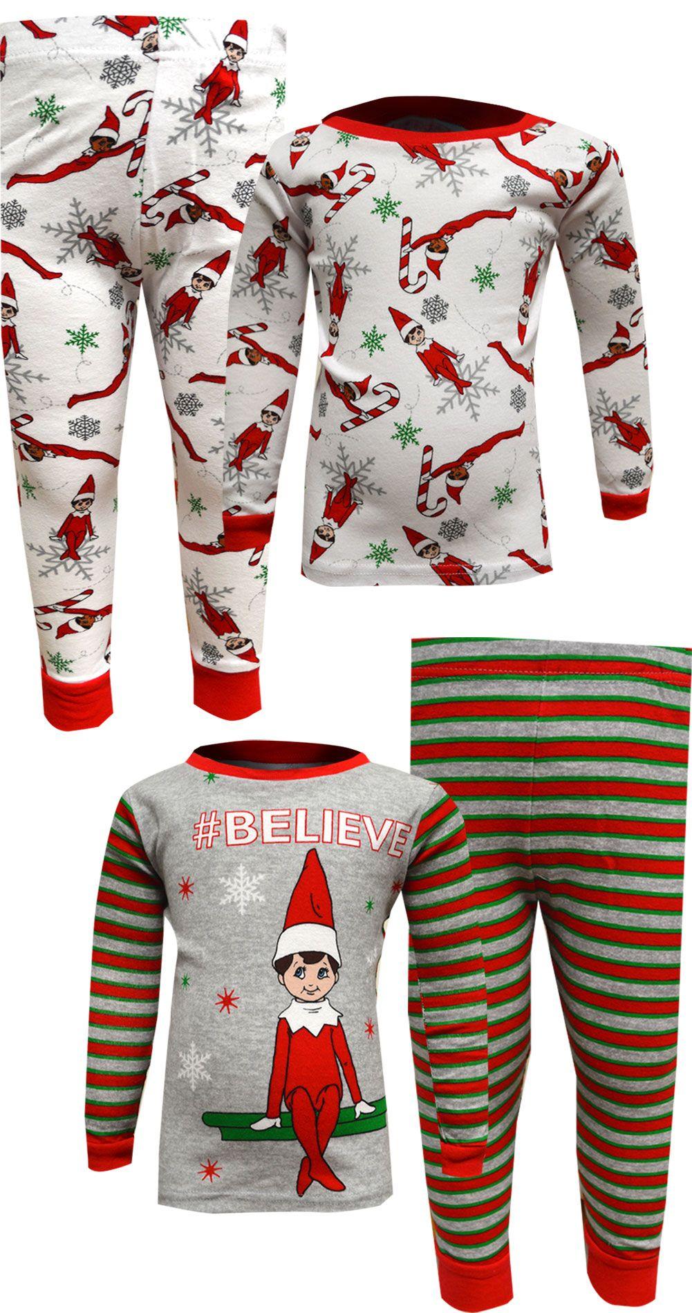 Elf on the Shelf 4 Piece Cotton Christmas Pajamas Cute