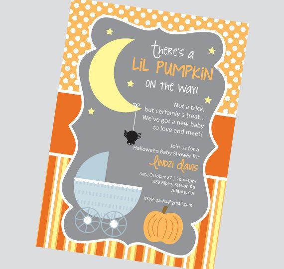 Halloween Themed Baby Shower Invitation