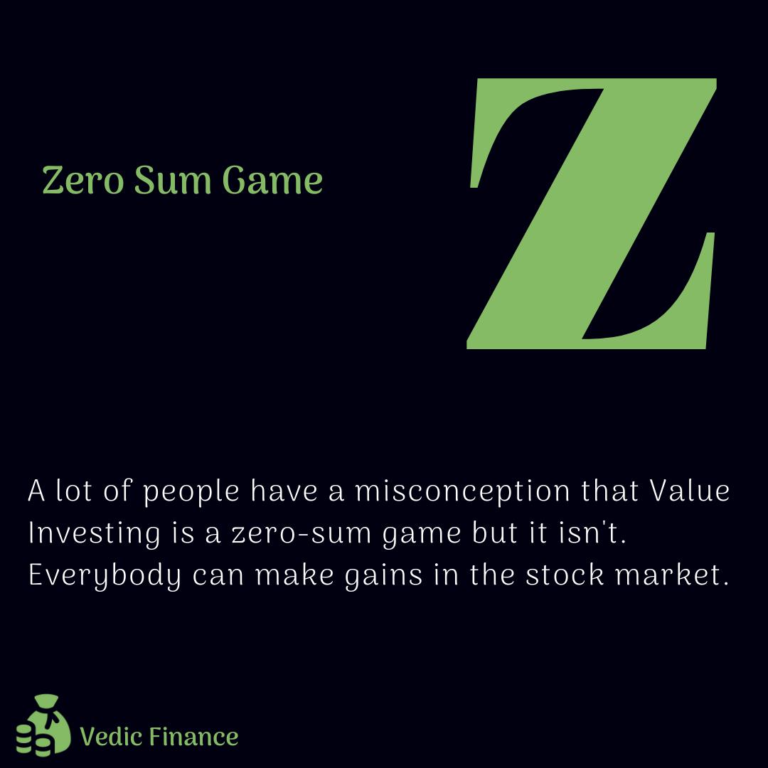 Zero Sum Game Value Investing Personal Finance Blogs Investing