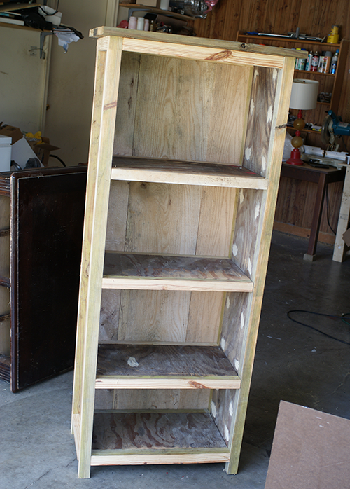 to bookcase bookshelf build a how barnwood reclaimed wood diy