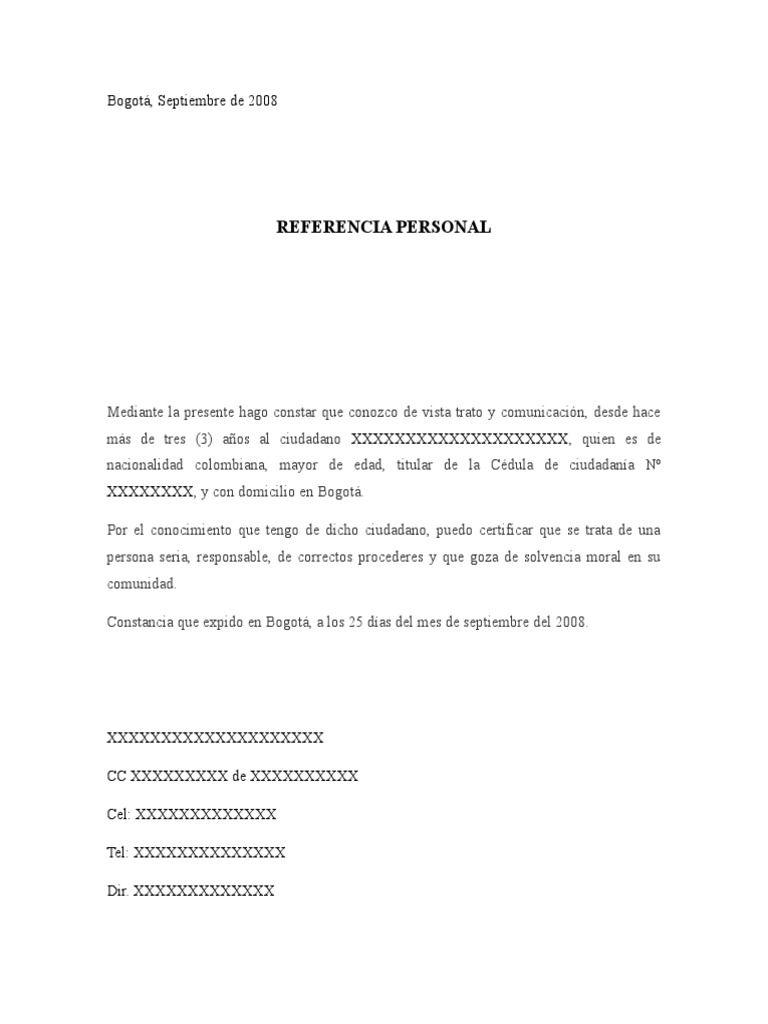 Formato Carta Referencia Personal Buscar Con Google Carta De Referencia Cartas De Recomendacion Formato De Carta