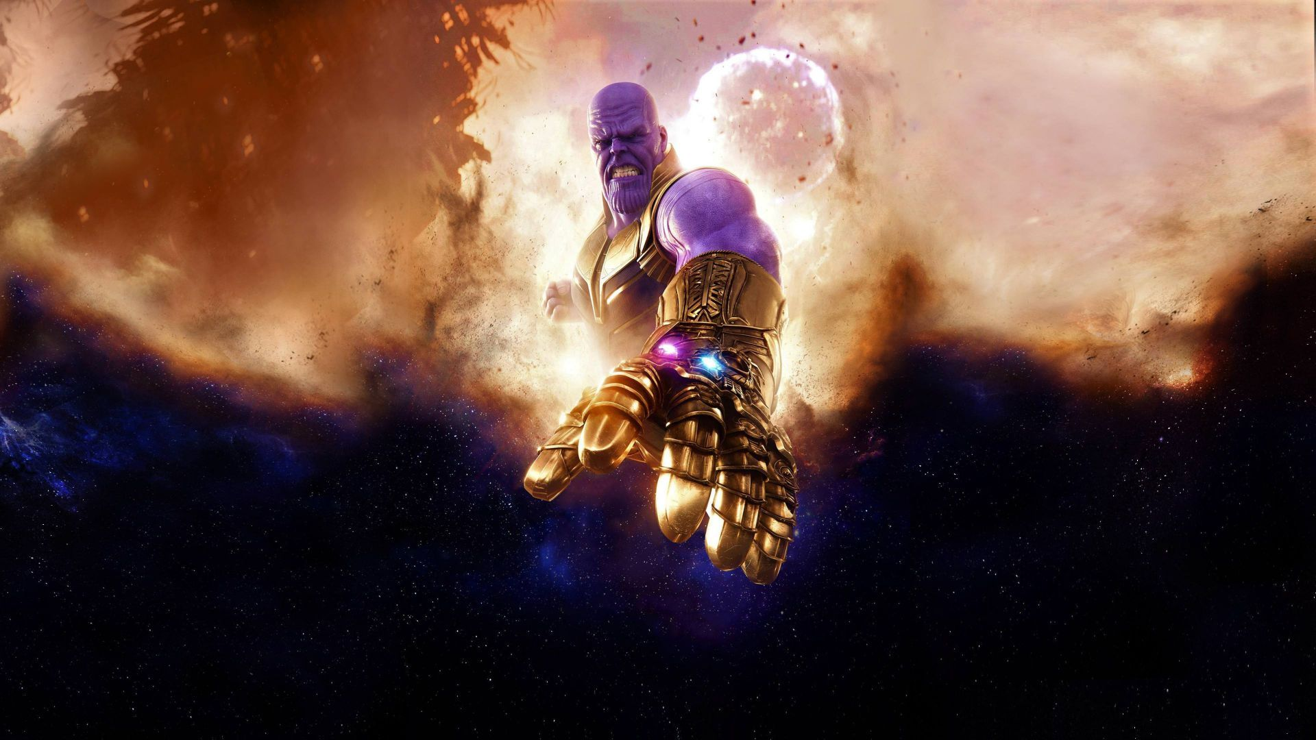 download wallpapers of thanos, avengers: infinity war, 4k, movies