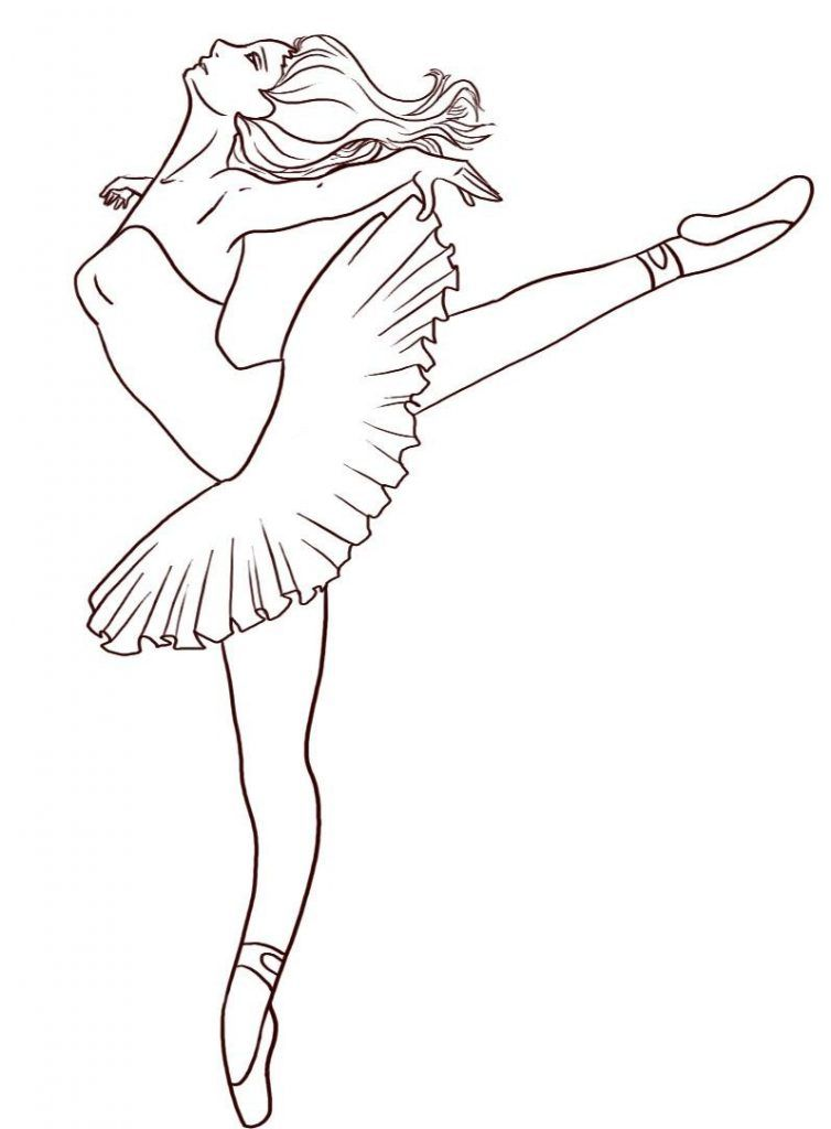Free Printable Ballet Coloring Pages For Kids | Ausmalbilder Barbie ...
