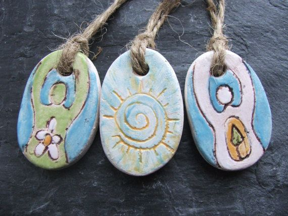Ceramic Ostara Spring Equinox Gift Tags or от RowanSongCrafts, £6.00