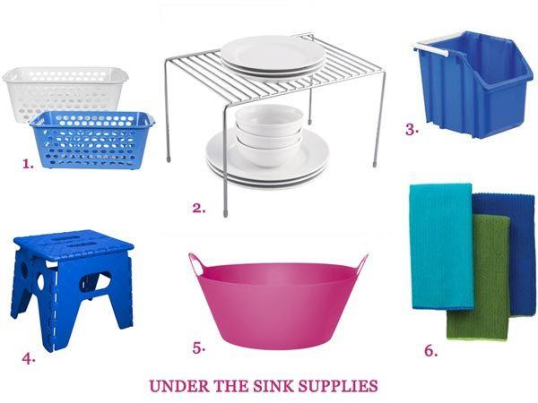 Get Organized: 6 Under The Sink Supplies