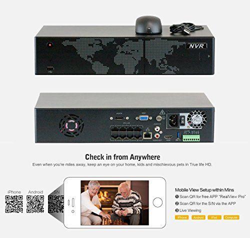70f56fccf2f GW Security 8 Camera 1080P PoE IP CCTV Kit   6 x 1080P IP PoE 2.8-12mm  Bullet Cameras + 2 x 1080P Auto Tracking IP PTZ 4.7 ~ 94mm 20 times Zoom +  1x ...