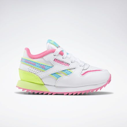aaf756ef443 Reebok Shoes Unisex Classic Leather Ripple ATI 90s in White Solar  Yellow Solar Pink