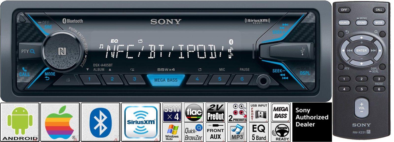 Sony Car Radio Stereo Bluetooth USB AUX Apple Android Pandora