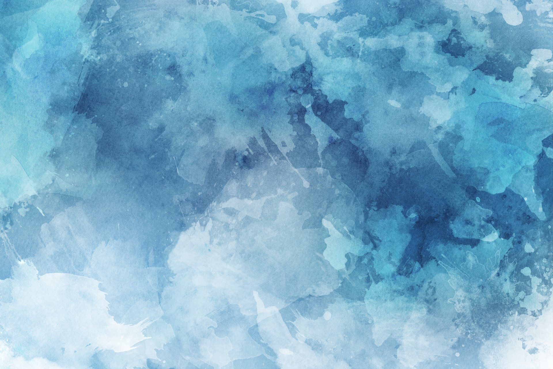Vibrant Blue Watercolor Painting Background Free Image By