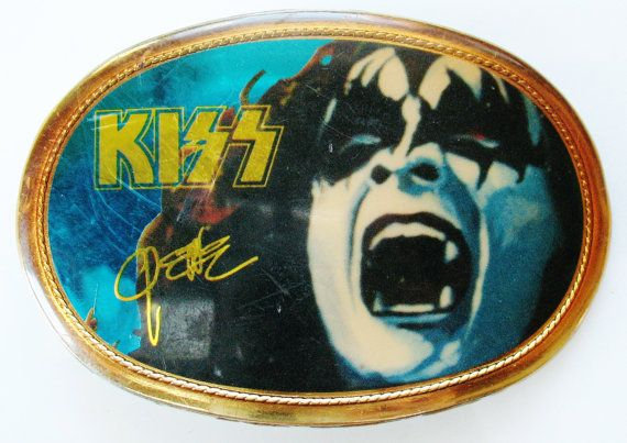 Vintage KISS GENE SIMMONS Belt Buckle Pacific Mfg La by eclecticka, $179.00