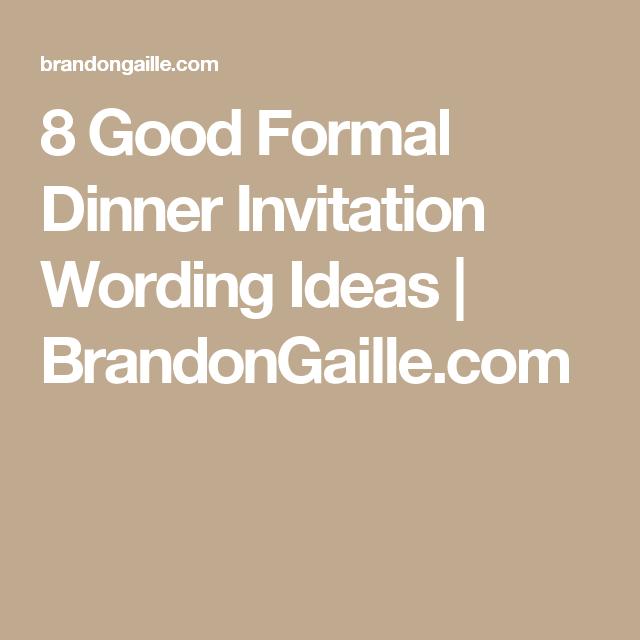 8 good formal dinner invitation wording ideas party decor