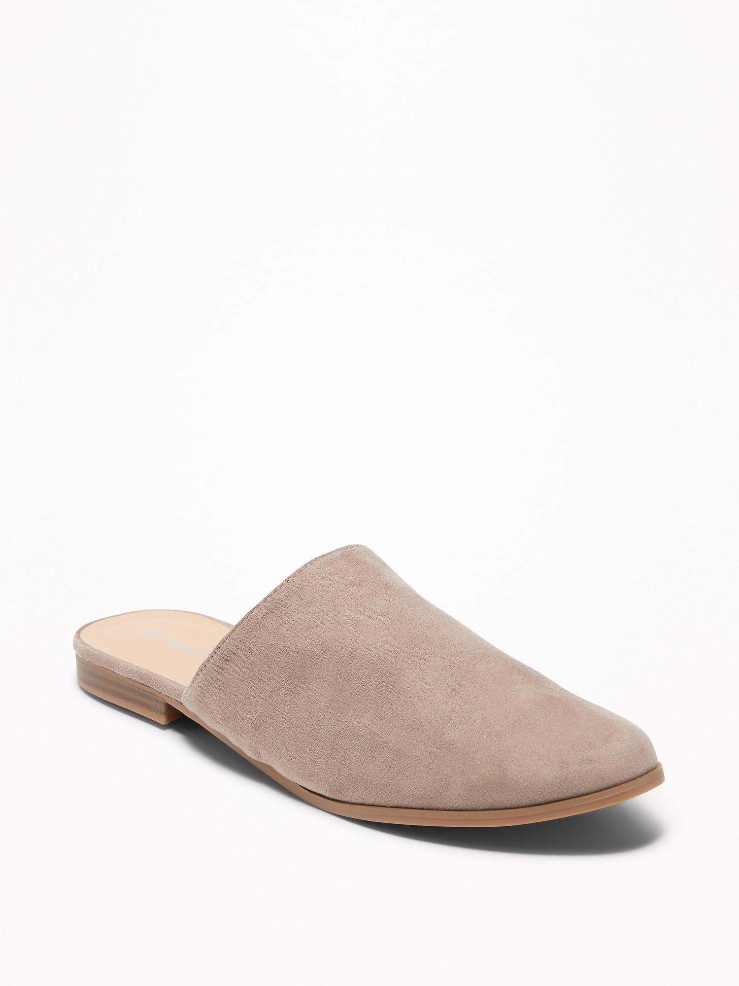 65d28438370d Faux-Suede Slide Mules for Women
