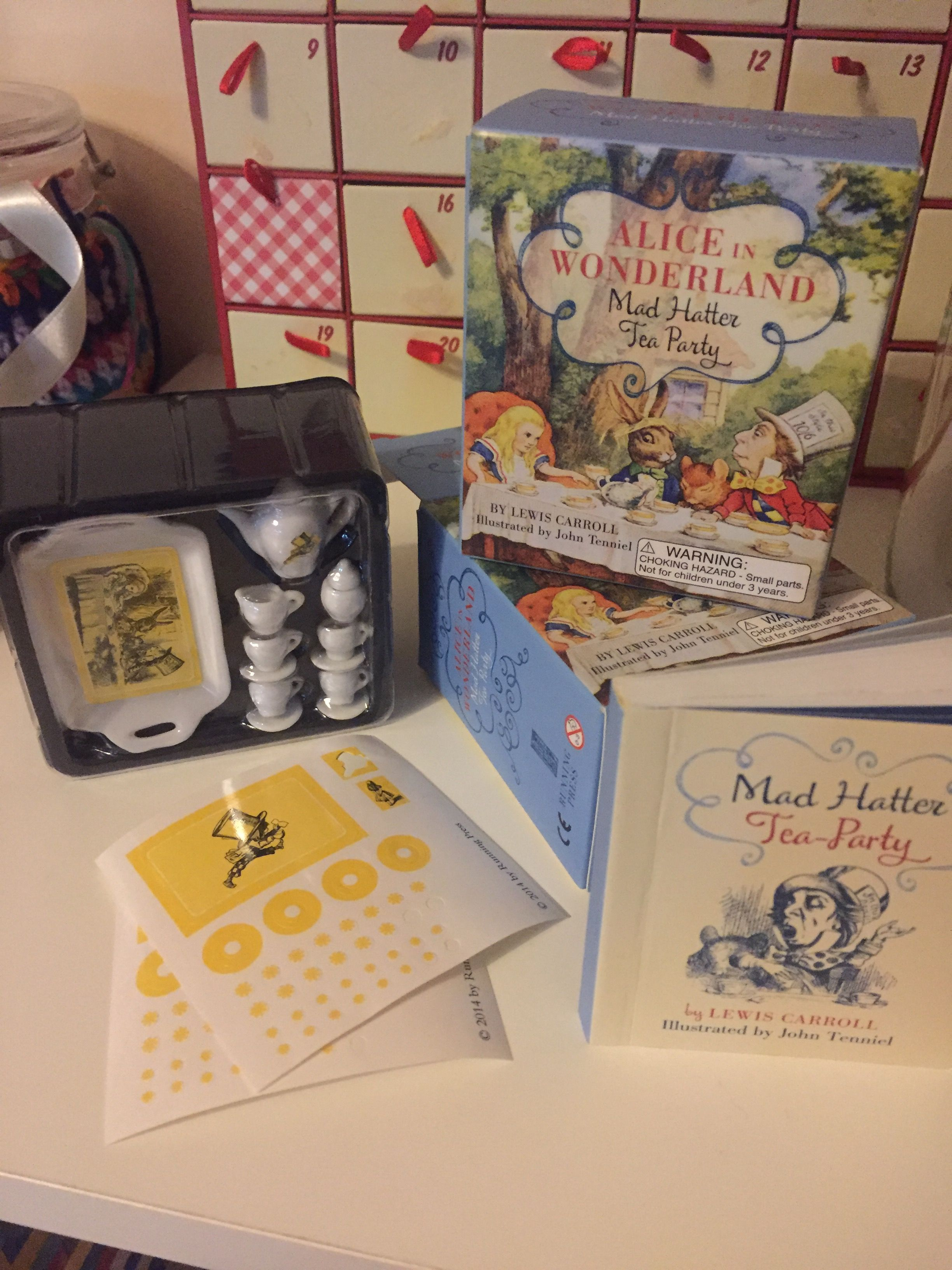 mad hatter teparty invitations pinterest%0A Alice in Wonderland Mad Hatter Tea Party Set by Running Press miniature tea  set