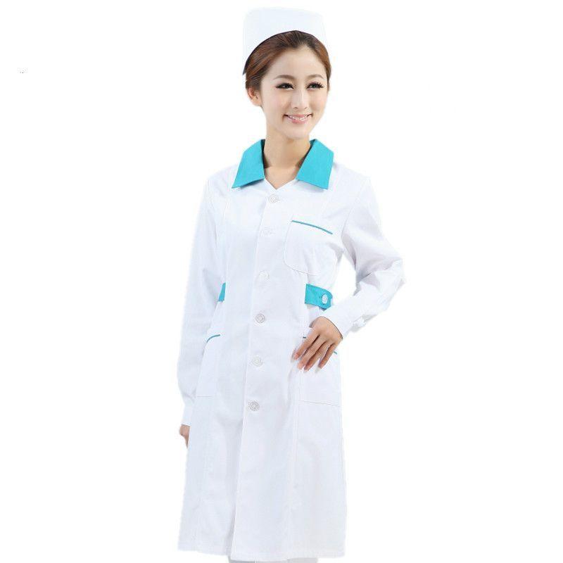 Nurse Uniform Hospital Lab Coat Korea Style Women Hospital Medical ...