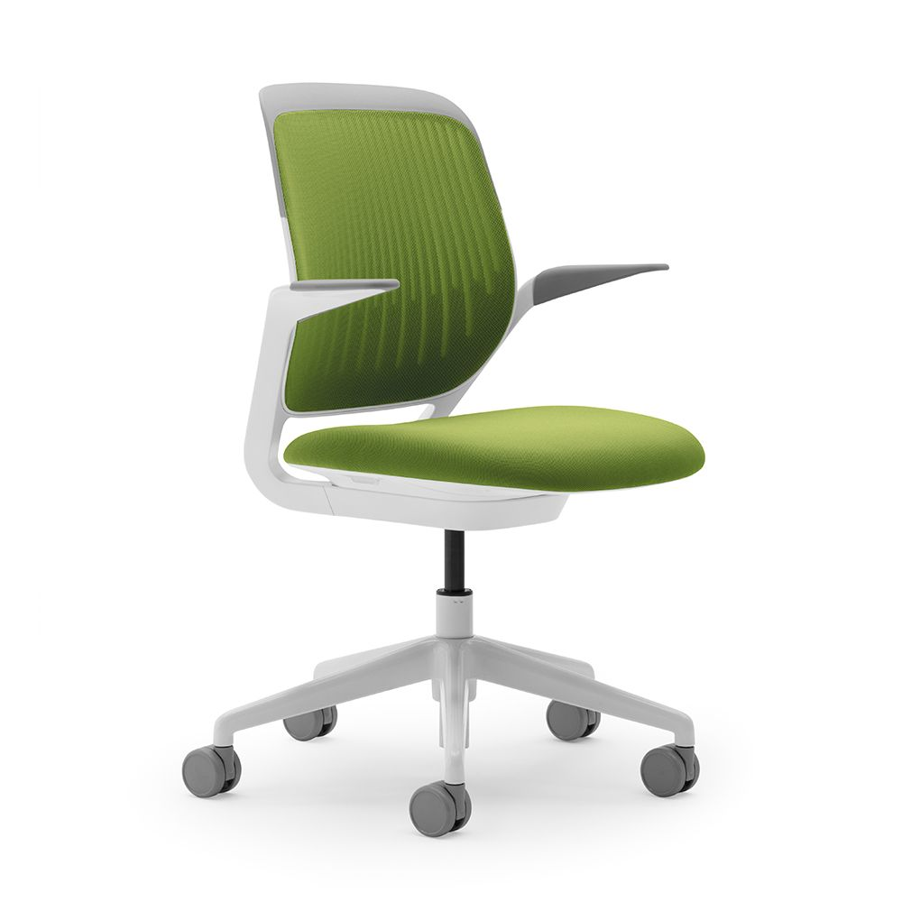 Like The White Frame Comes In Lots Of Colors Lime Green Cobi Desk Chair With Modern Office Furniture Poppin