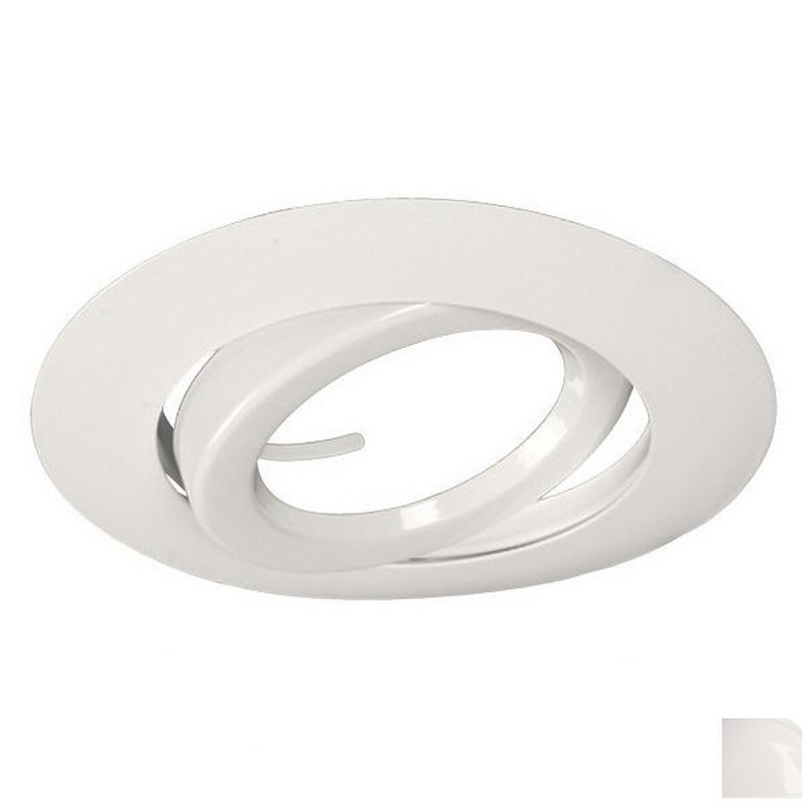 Galaxy White Gimbal Recessed Light Trim Fits Housing