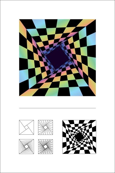 "Olga Ast | Mathematical Art Galleries | ""Warped Box"" with instructions on how it was done"