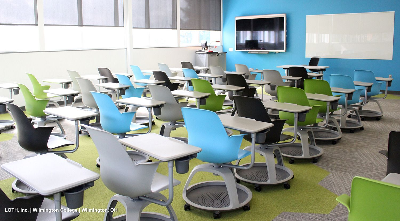 Wilmington college classroom steelcase node education school