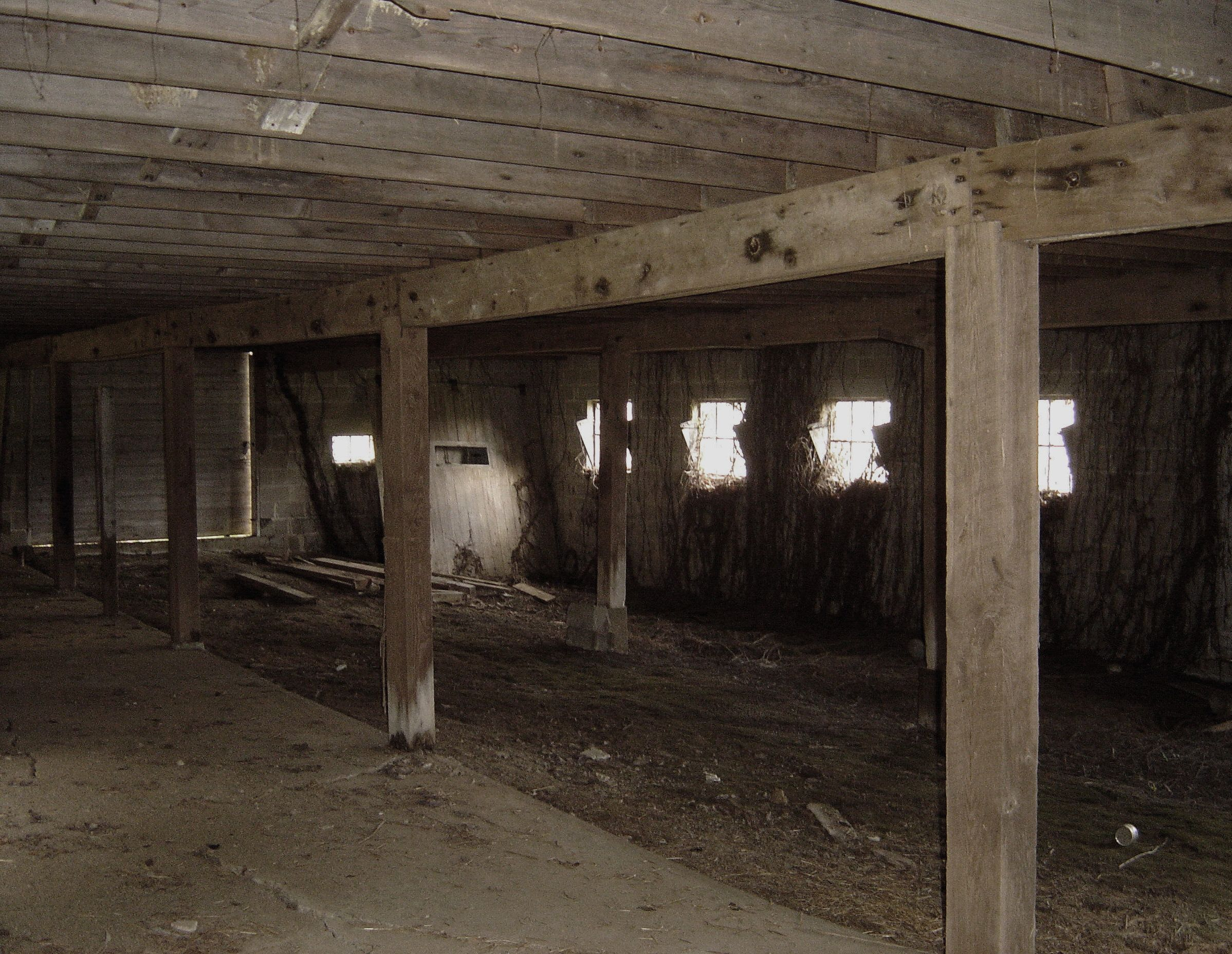 This Is An Interesting Interior Photo Of Abandoned Barn In Brown