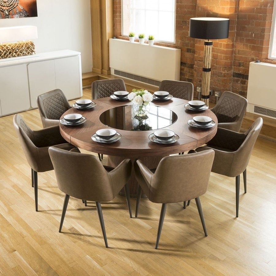 Large Walnut Round 1 6m Dining Table 8 X Antique Brown Carver. Astonishing Dining Room Carver Chairs Gallery   Best inspiration