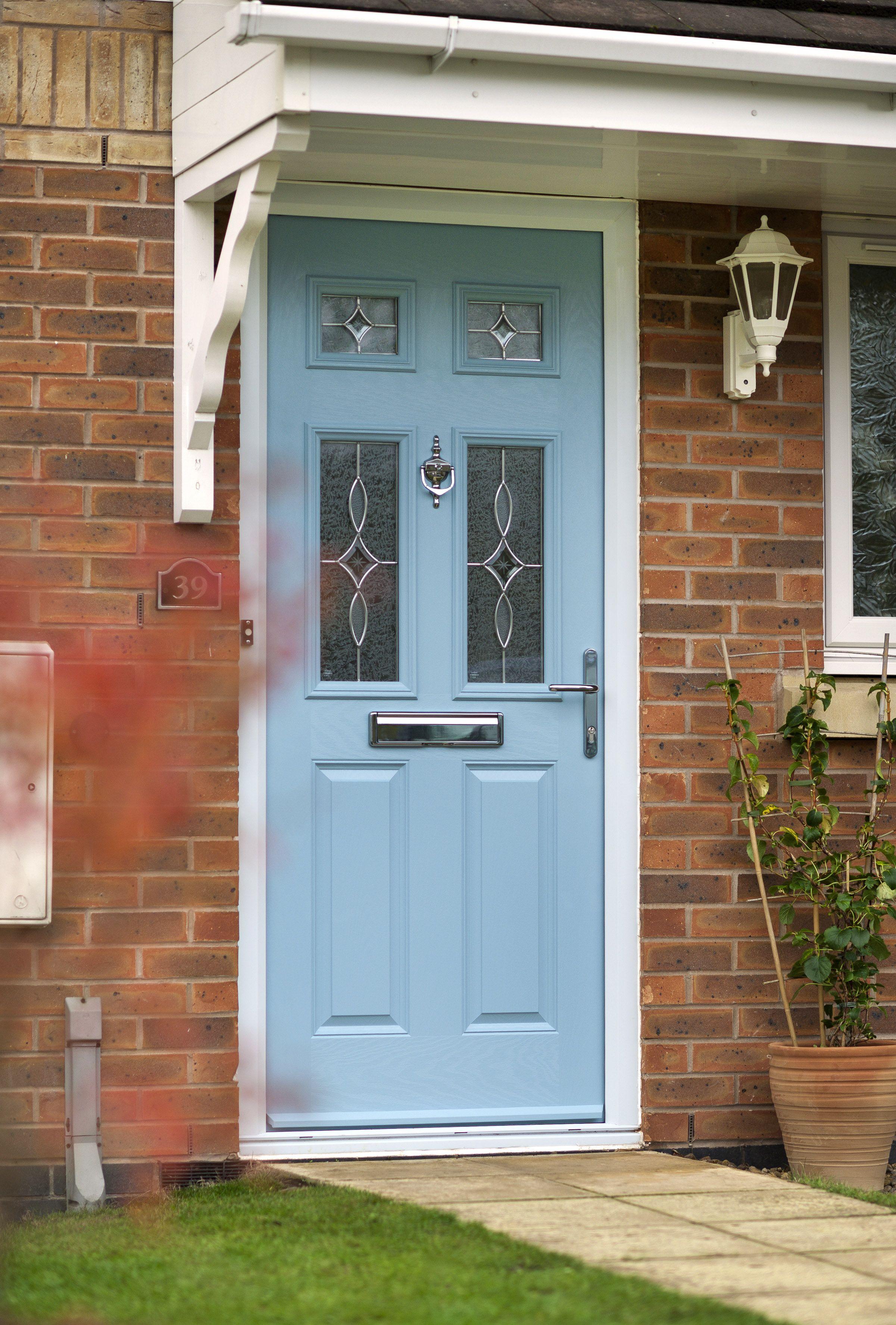 Door-Stop International contemporary duck egg blue front door ...