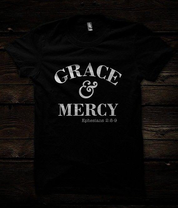 Tshirt  Mercy and Grace Christian Shirt Christian Apparel Christian Clothing Christian Tee  Christian Shirts  Grace  4x Jesus t shirtsApparel Grace and Mercy Tshirt  Merc...