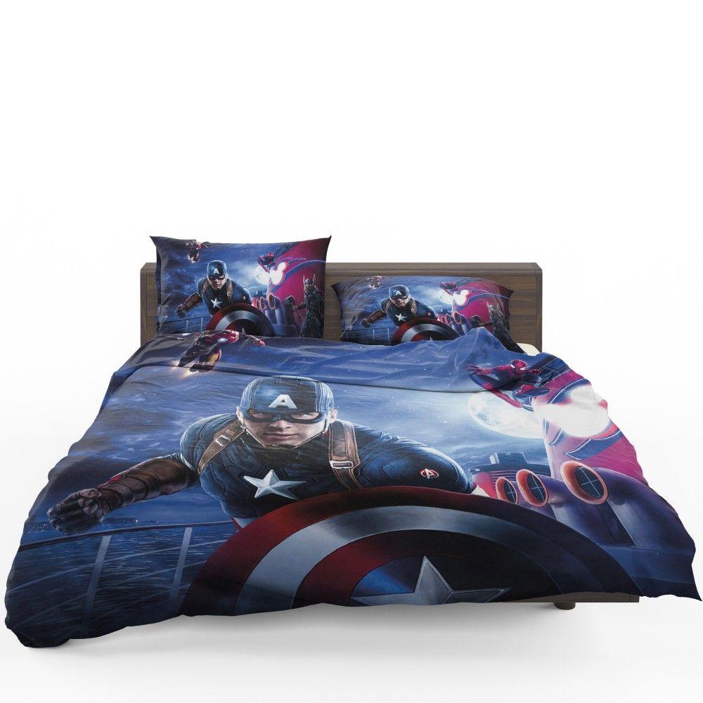Captain America Iron Man Spider Man Bedding Set Mens Bedding Sets Superhero Bedding Marvel Bedding