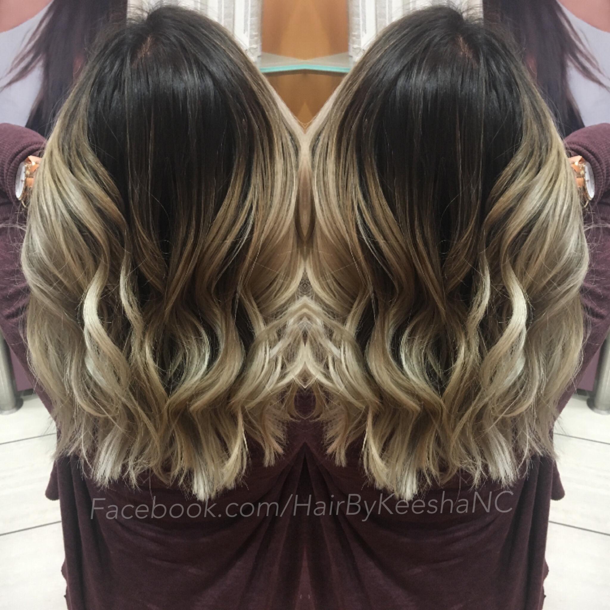 High Contrast Ombre Balayage Keesha Cavadini Mia Maxx Hair