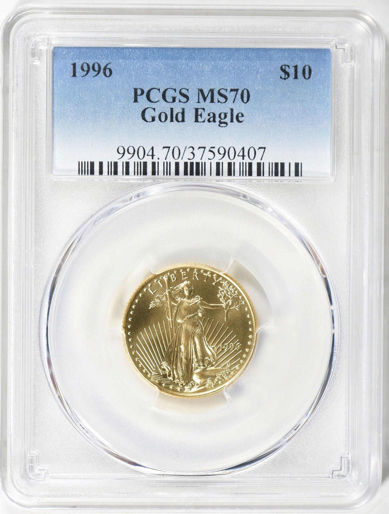 1996 10 Quarter Ounce Gold American Eagle Pcgs Ms 70 1996 10 Quarterounce The Post 1996 10 Quarter Ounce G In 2020 Gold American Eagle Gold Eagle Gold Coins