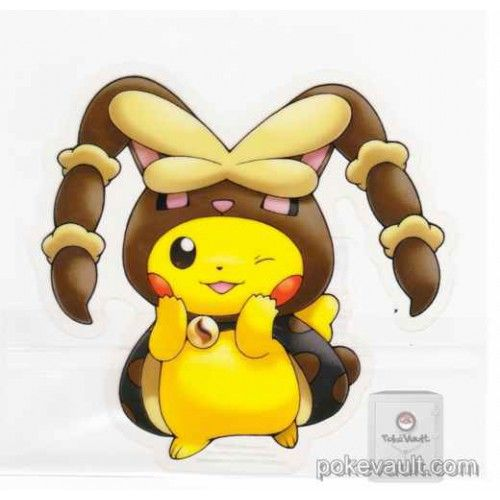 Pokemon center 2016 poncho pikachu campaign 2 mega lopunny large sticker